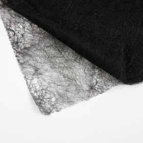 Паутинка клеевая, 23 гр/кв метр, 50 × 50 см, цвет чёрный Ош
