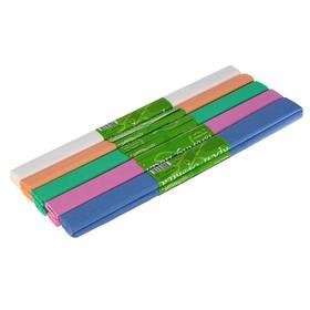 Бумага креповая в рулоне 50х250 см, 17 г/м², 5 цветов МИКС, пастельные Ош