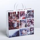 Пакет подарочный пластик «Новогоднее фото», 30 × 5 × 30 см - Фото 1