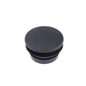 Заглушка для труб круглая, d=40, черная Ош