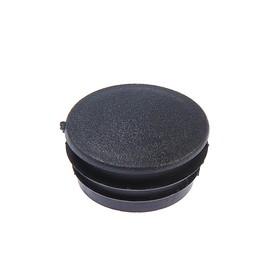 Заглушка для труб круглая, d=50, черная Ош