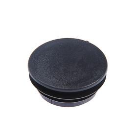 Заглушка для труб круглая, d=57, черная Ош