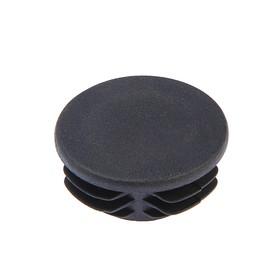 Заглушка для труб круглая, d=73, черная Ош