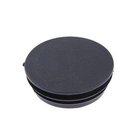 Заглушка для труб круглая, d=76, черная Ош