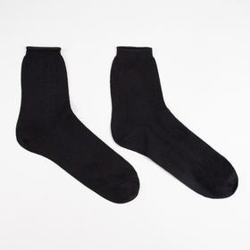 Носки мужские, цвет чёрный, размер 25 Ош