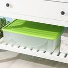 Ёмкость для хранения с крышкой 22 л, 36×54×15 см, цвет МИКС