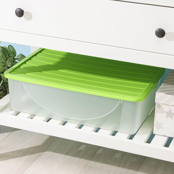 Ёмкость для хранения вещей с крышкой 22 л, цвет МИКС