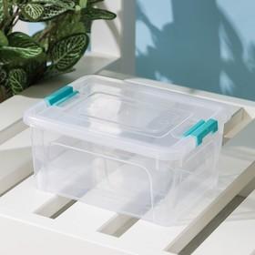 Контейнер для хранения с крышкой Алеана Smart Box, 800 мл, 16×12×7,5 см, цвет МИКС Ош
