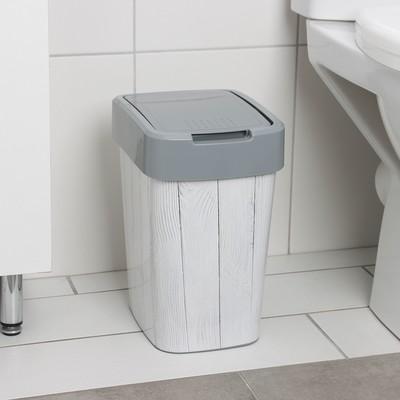 Ведро для мусора Алеана «Декинг», 10 л, цвет серый