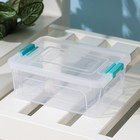 Контейнер для хранения с крышкой Smart Box, 650 мл, 16×12×6 см, цвет прозрачно-бирюзовый