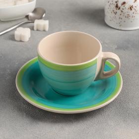 """Чайная пара """"Весенняя капель"""" чашка 220 мл, блюдце"""