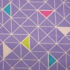 Постельное бельё 1,5 сп «Треугольники», цвет синий, 147х210 см, 150х210 см, 70х70 см -2 шт бязь - Фото 3