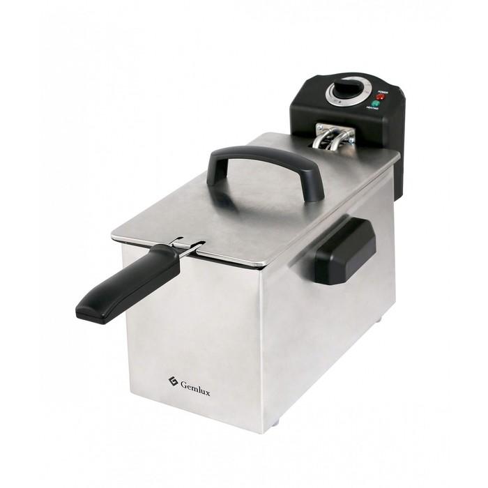 Фритюрница GEMLUX GL-DF4M1, электрическая, настольная, 1 съёмный котел, 4 л, 1 корзина