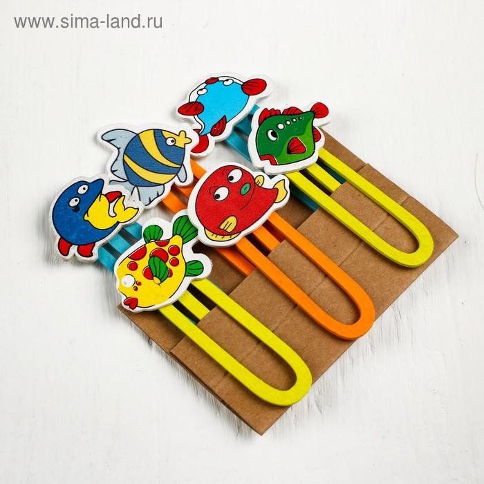 Набор декоративных скрепок «Рыбки» 1×12×13 см