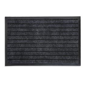 Коврик придверный влаговпитывающий ребристый «Спектр», 40×60 см, цвет серый Ош