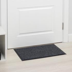Коврик придверный влаговпитывающий ребристый «Комфорт», 36×55 см, цвет серый Ош
