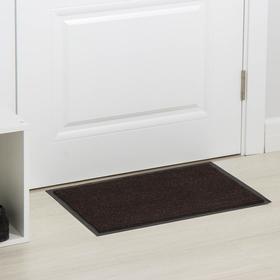 Коврик придверный влаговпитывающий, ребристый, «Комфорт», 40×60 см, цвет коричневый Ош