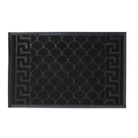 Коврик придверный влаговпитывающий «Рельеф», 45×69 см, цвет чёрный Ош