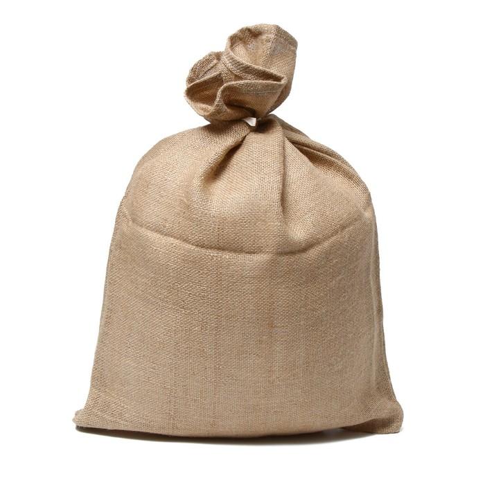 Мешок джутовый, 45 × 60 см, плотность 315 г/м² с завязками, особо прочный