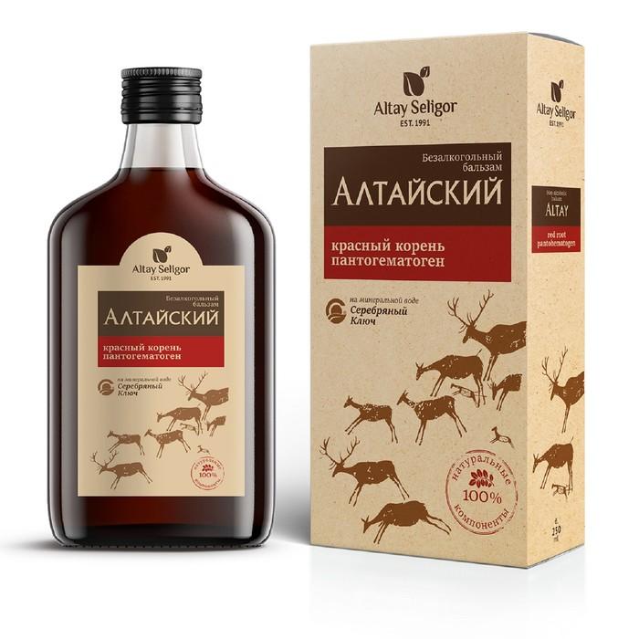 Бальзам «Алтайский» с красным корнем и пантогематогеном 100 мл