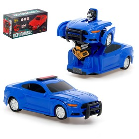 Робот «Полицейский», трансформируется, световые и звуковые эффекты, работает от батареек Ош