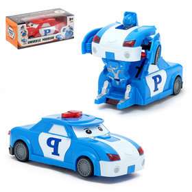 Робот «Полицейский», трансформируется, световые и звуковые эффекты, работает от батареек, МИКС Ош