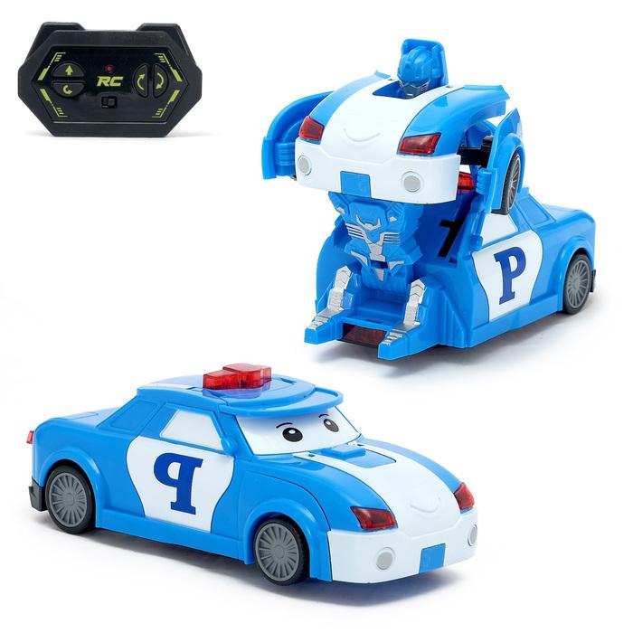 """Робот-трансформер радиоуправляемый """"Полицейский"""", работает от батареек"""