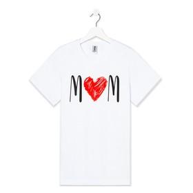 Футболка женская KAFTAN 'Love mom', белый, р. 42 Ош