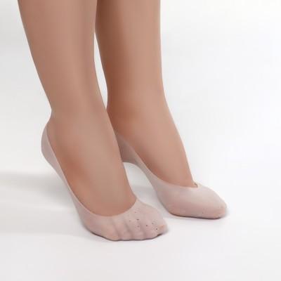 Носочки для педикюра, силиконовые, цвет белый - Фото 1