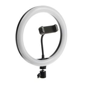 Светодиодная кольцевая лампа LuazON CB-32, 10' (26 см), 20 Вт, 3 режима, работает от USB Ош