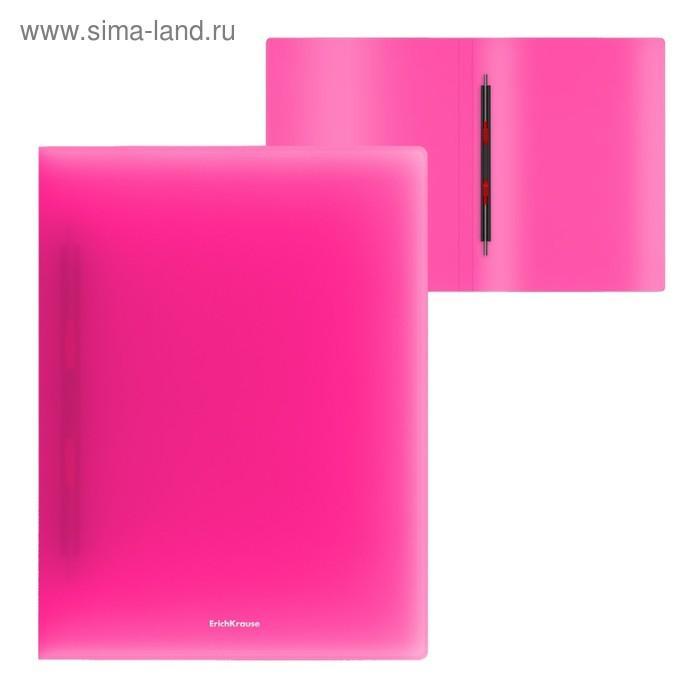 Папка-скоросшиватель с пружинным механизмом А4 Erich Krause Neon, розовая