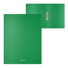 Папка с зажимом А4, Erich Krause Classic, зелёная Ош