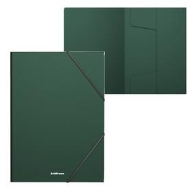 Папка на резинках А4 зелёная, пластиковая Erich Krause, Matt Classic Ош