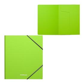 Папка на резинках А5+ пластиковая Erich Krause Neon, зелёная Ош