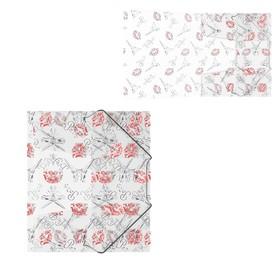 Папка на резинках А5+ пластиковая Erich Krause Bonjour Ош