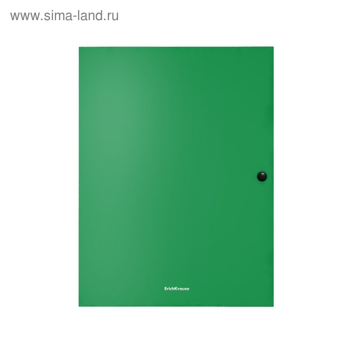 Папка на кнопке А4, 8 мм, зелёная, пластиковая, 3 клапана, Erich Krause, Matt Classic