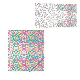 Папка на резинках А5+ пластиковая Erich Krause Lines Ош