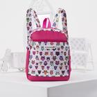 Рюкзак молодёжный, отдел на молнии, наружный карман, цвет розовый/белый
