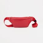 Сумка поясная, отдел на молнии, наружный карман, цвет красный - Фото 1