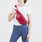 Сумка поясная, отдел на молнии, наружный карман, цвет красный - Фото 5