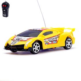 Машина радиоуправляемая «Ламбо», работает от батареек, цвет желтый Ош