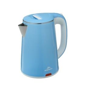"""Чайник электрический """"Добрыня"""" DO-1235B, 2200 Вт, 2.3 л, голубой"""