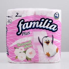 "Туалетная бумага белая ""Familia Plus Весенний цвет"" 2 слоя, 4 рулона 46380"