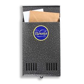 Ящик почтовый без замка (с петлёй), вертикальный, серебристый Ош