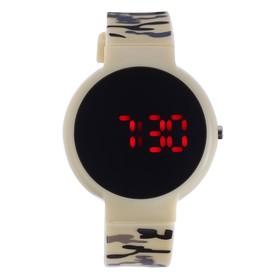 Часы наручные 'Ройстон', электронные, с силиконовым ремешком, l=23 см, микс Ош