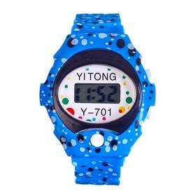 Часы наручные 'Пупырка', электронные, с силиконовым ремешком, l= 23 см, микс Ош