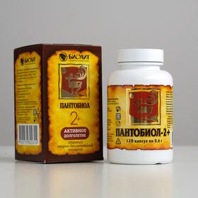 Капсулы «Пантобиол 2+», восстановление костей и хрящей, 120 капсул по 0,6 г