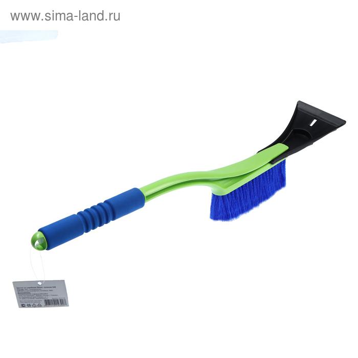 Щётка со скребком Oktan, 54 см, с мягкой ручкой, зелёная