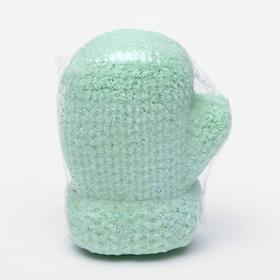 "Бурлящая соль для ванны Варежка ""Печенье"" зеленая, 125 г"