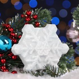 """Бурлящая соль для ванны Снежинка """"Шоколад"""" белая , 100 г"""